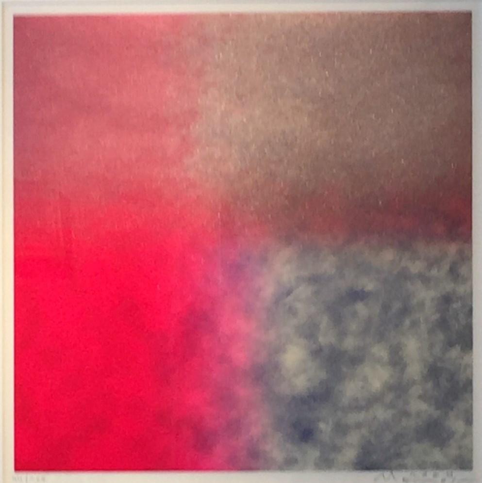 百瀬寿『Square-Reversible, Red and Metallic Red thru Blue and Metallic Blue』