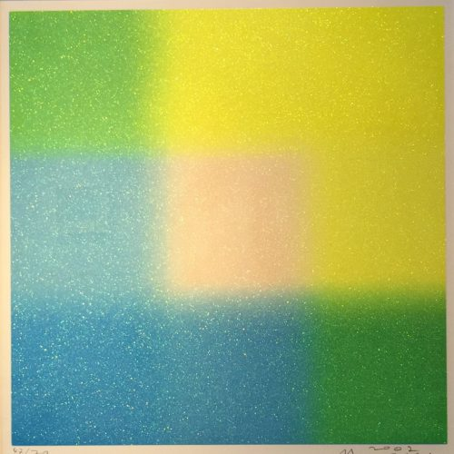百瀬寿『Square lame´― Yellow and Blue around Medium』