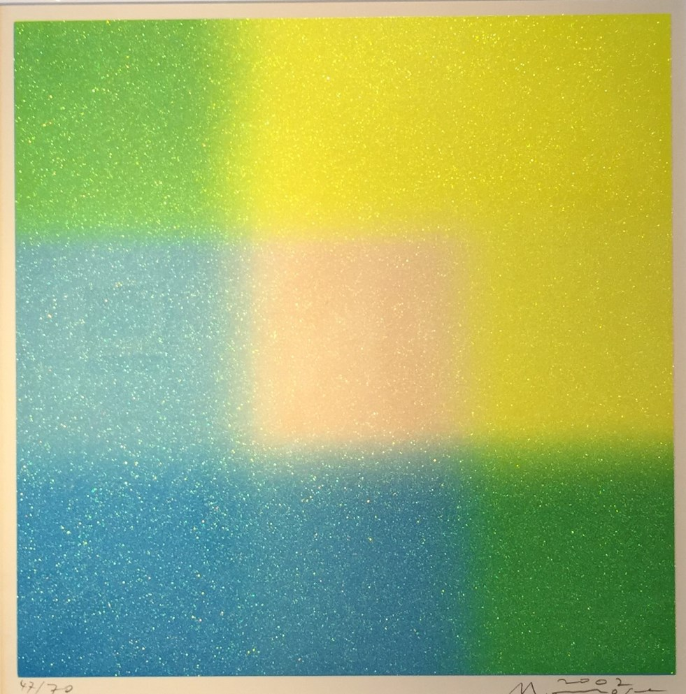 百瀬寿『Square lame´― Yellow and Blue around Medium』