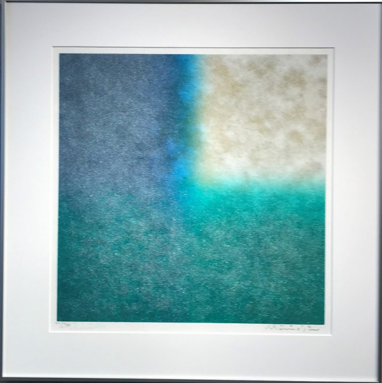百瀬寿『Square-Reversible, Silver and Gold thru Metallic Blue and Metallic Green』