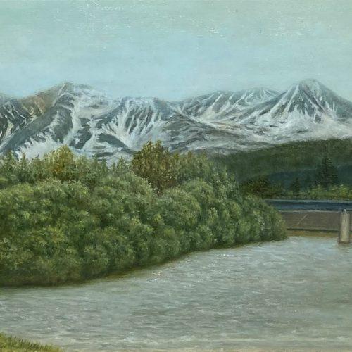 星野 美知枝『残雪の山』