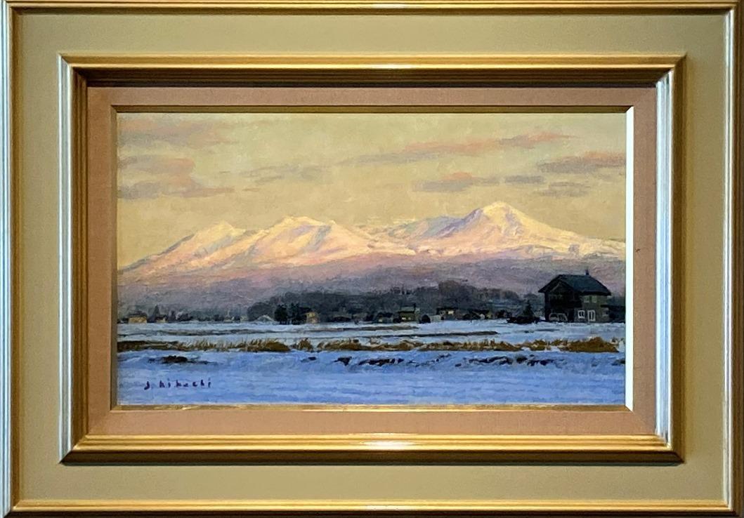 菊池潤子『冬の夕映え大雪山』