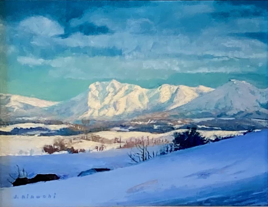 菊池潤子『雪の丘とオプタテシケ山』