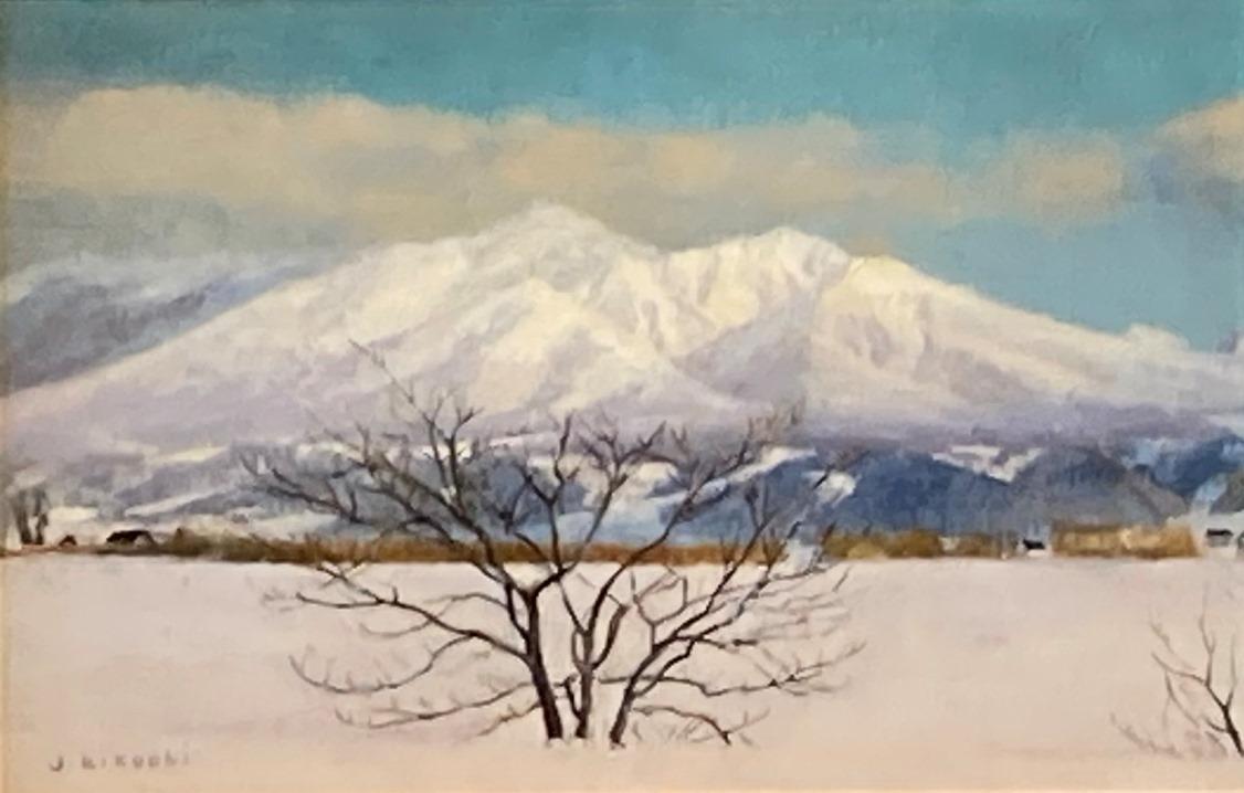 菊池潤子『雪化粧富良野岳』