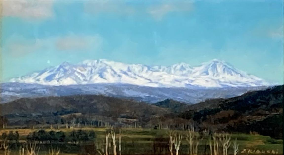 菊池潤子『雪解け進む大雪山』