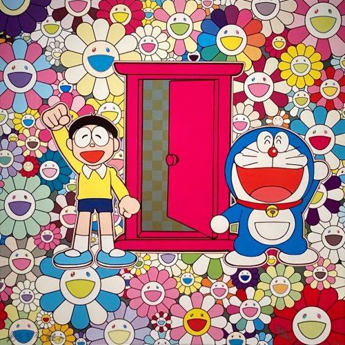 村上隆『どこでもドアでお花畑にやってきた!』