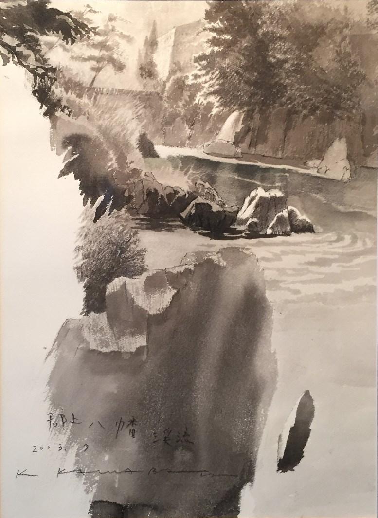 川端絋一『郡上八幡渓流』