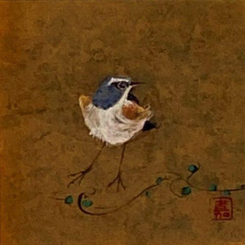 中野嘉之『瑠璃鶲』