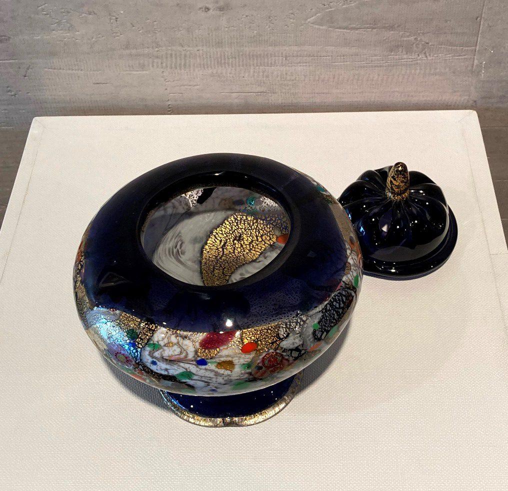 黒木国昭『香炉 金、プラチナ象嵌「光琳」』