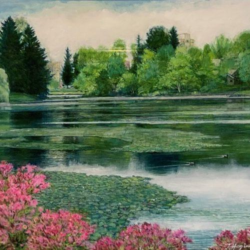 萩原常良「池橋の花」